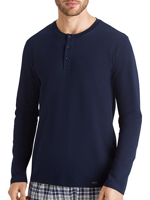 Living Long-Sleeve Henley Top