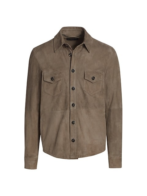 COLLECTION Suede Double Pocket Shirt