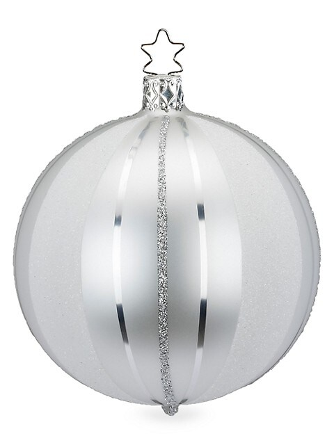 Easy Stripes Glass Ball Ornament