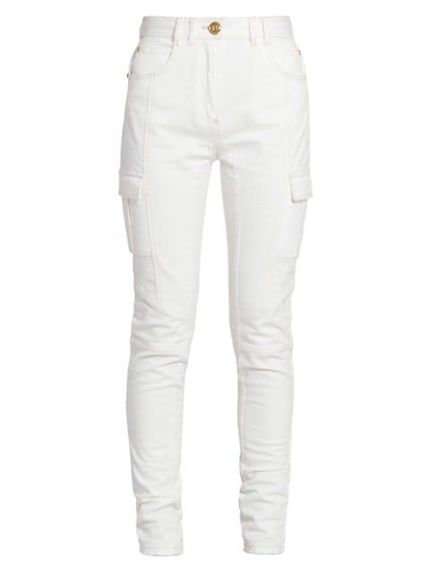 High-Rise Paneled Skinny Jeans