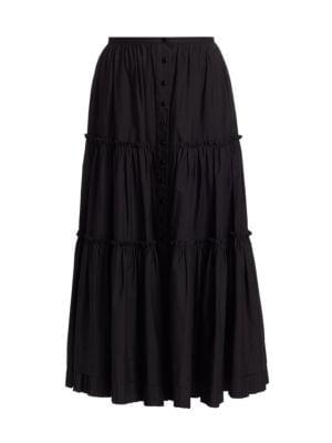 마크 제이콥스 주름 스커트 Marc Jacobs The Prairie Midi Skirt,BLACK