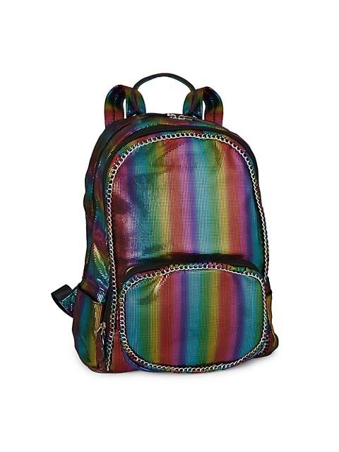 Rainbow Stripe Chain Backpack
