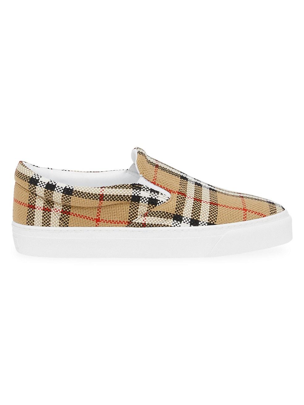 Burberry Thompson Canvas Slip-On Sneakers