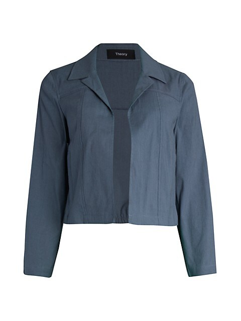 Theory Shrunken Linen-Blend Jacket