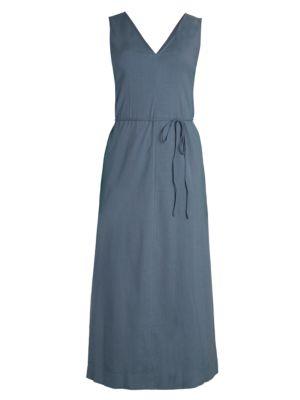 Theory Deep V-Neck Maxi Dress