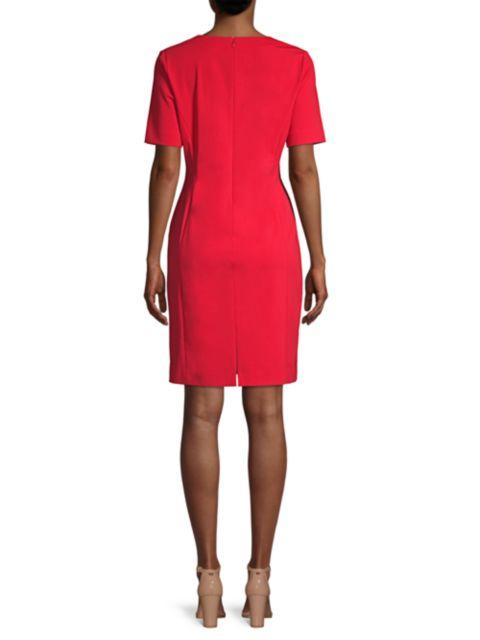 Misook Split-Neck Seam Detail Dress   SaksFifthAvenue