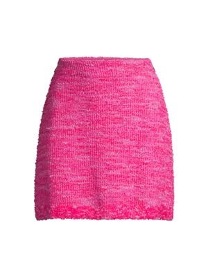 Kate Spade Women's Knit Tweed Skirt In True Pink