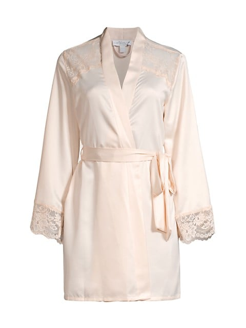 Because Wrap Lace Robe