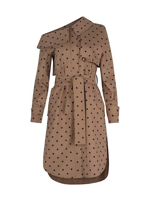 Ancona Polka Dot Trench Dress
