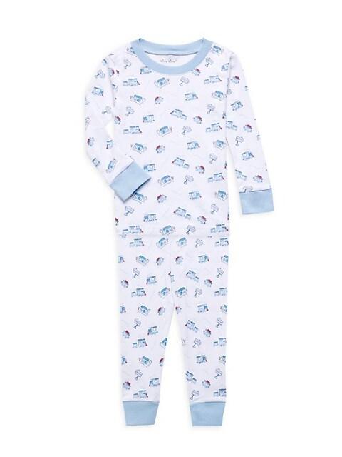 Kissy Kissy Little Boys 2-Piece Rickety Railroad Long Pajama Set