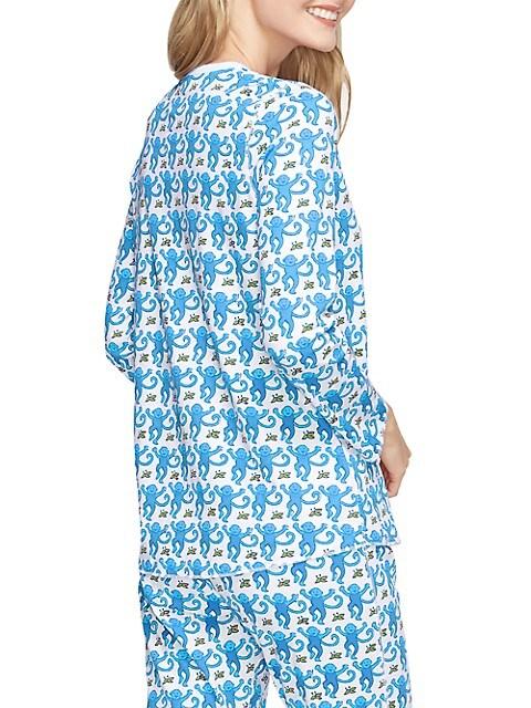 Roller Rabbit Monkey Print 2 Piece Pajama Set Saksfifthavenue