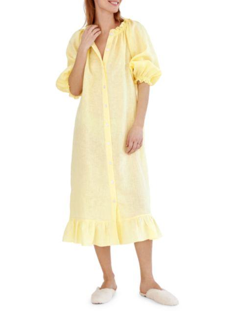Sleeper Linen Lounge Dress | SaksFifthAvenue