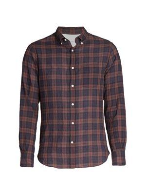 Officine Generale Plaid Button Front Shirt