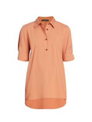 Lafayette 148 Stretch Cotton Boyes Shirt