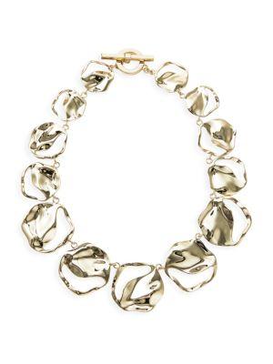 Lafayette 148 Wavy Goldtone Disc Necklace