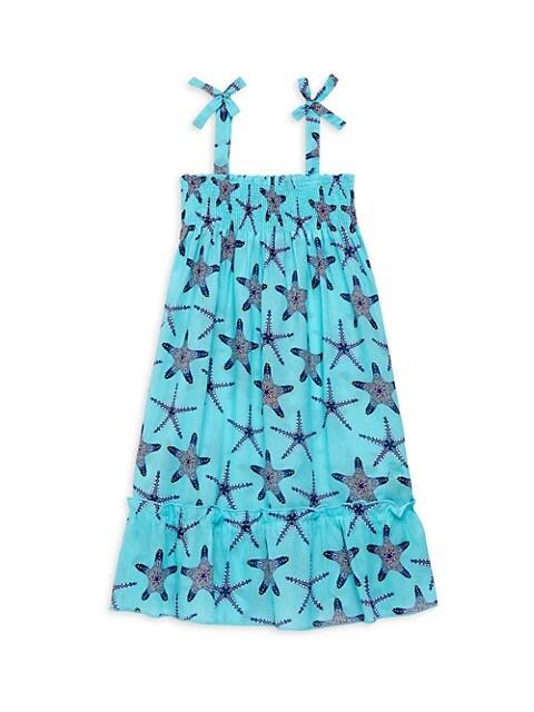 Little Girl's & Girl's Gloss Starfish Dress