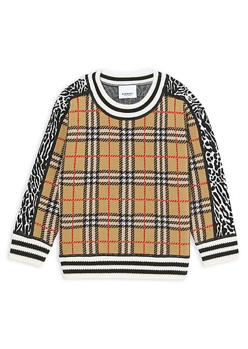 London Girl Brown Cotton Crewneck Boys-Girls Sleepwear Pajama 2 Pcs Set