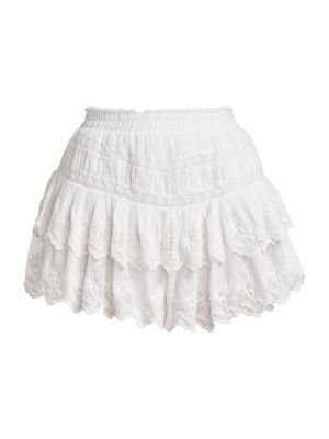J VALDI Womens Eyelet Lace Mini Skirt White XL