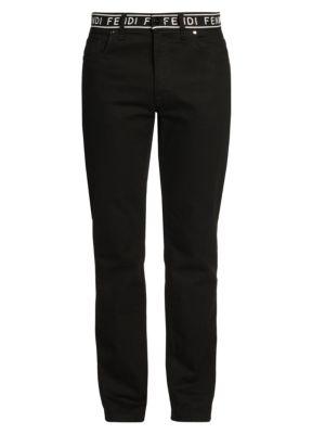 Fendi Logo Belt Tape Jeans