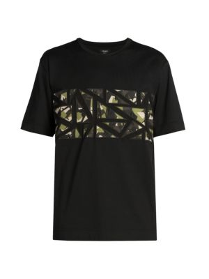 Fendi Bugs Embroidered T-Shirt