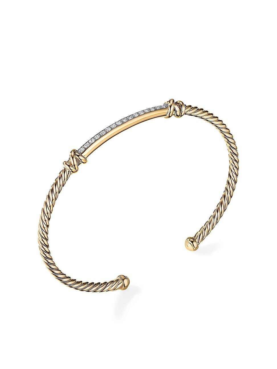 David Yurman WOMEN'S HELENA 2-STATION BRACELET IN 18K YELLOW GOLD WITH DIAMONDS