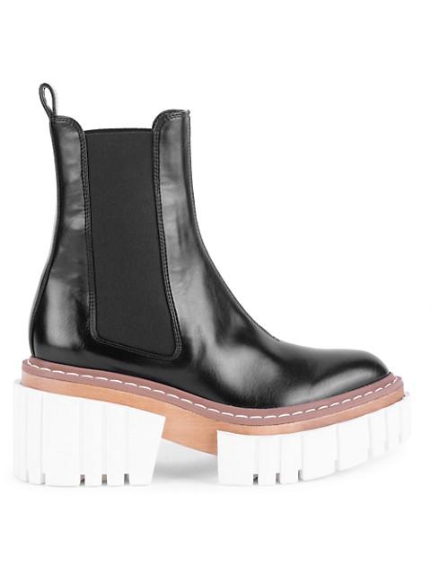 Stella McCartney Emilie Lug-Sole Chelsea Boots