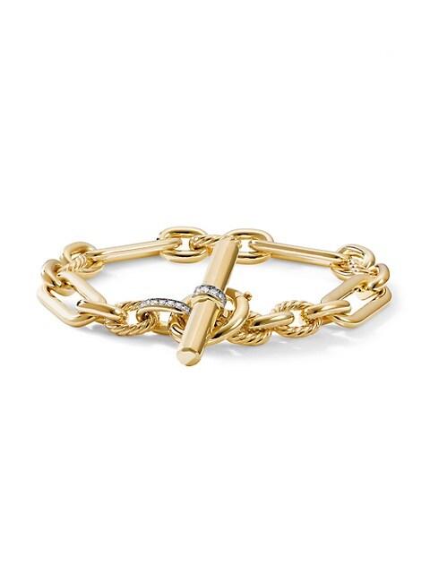 Lexington 18K Yellow Gold & Diamond Chain Toggle Bracelet