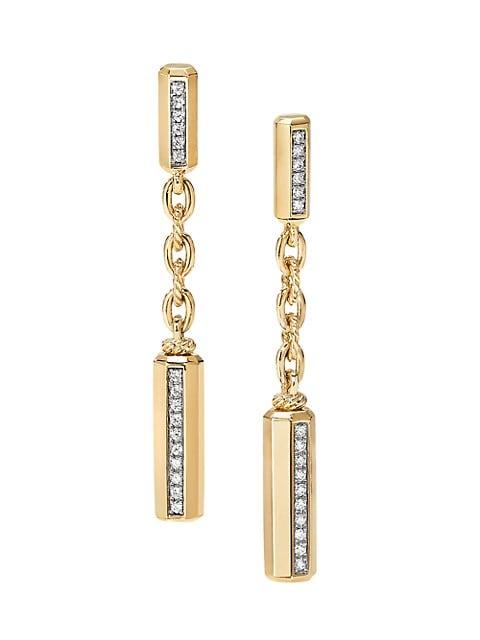 Lexington 18K Yellow Gold & Diamond Chain Drop Earrings