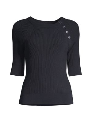 Equipment Desiree Short-Sleeve Sweater