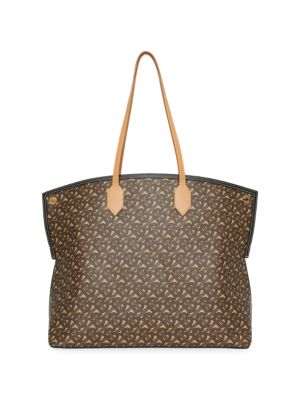 Burberry Society Monogram E-Canvas Tote