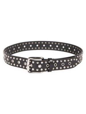 Isabel Marant Belts Rica Imitation Pearl & Studded Leather Belt