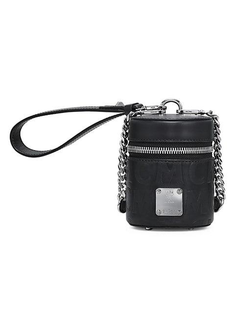Extra-Mini Cylinder Monogram Leather Crossbody Bag