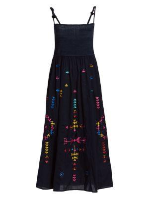 Figue Azalea Tie-Strap Midi Dress
