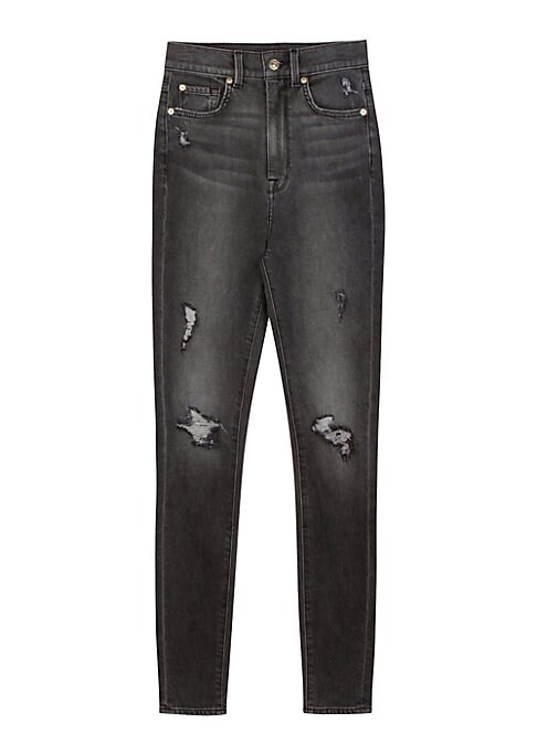 7 For All Mankind Womens Ankle Skinny in Dark Moonlight Bay