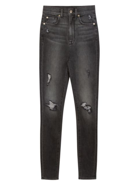 7 For All Mankind High-Rise Ankle Skinny Jeans | SaksFifthAvenue