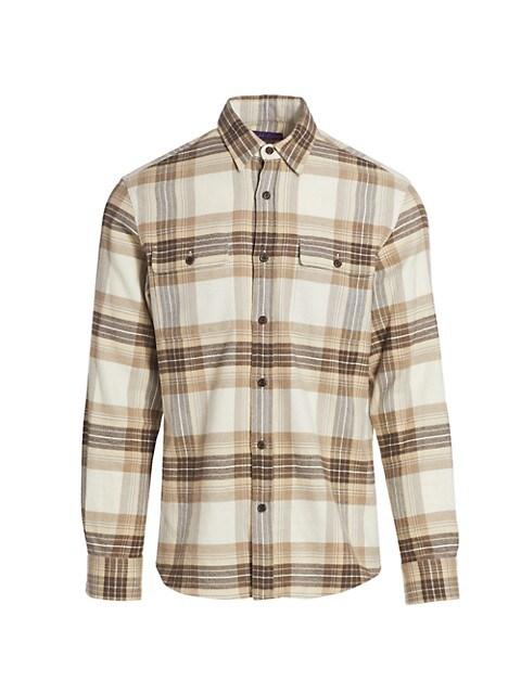 Cooper Elbow Patch Plaid Shirt