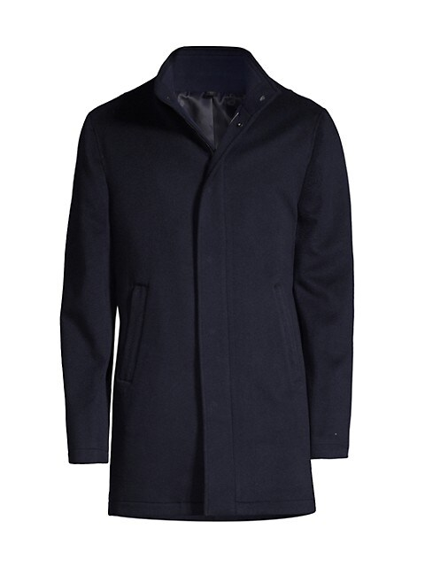 COLLECTION Cashmere Stand-Collar Coat