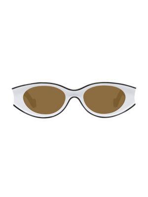 Loewe Paula Ibiza 52MM Small Oval Sunglasses