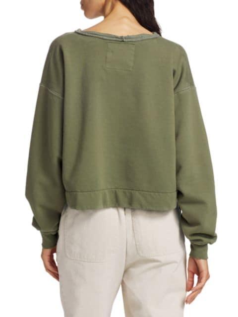 Rachel Comey Mingle Distressed Cropped Sweatshirt   SaksFifthAvenue