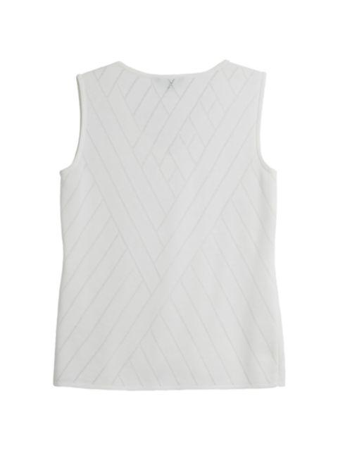 Misook, Plus Size Directional Burnout Knit Tank | SaksFifthAvenue