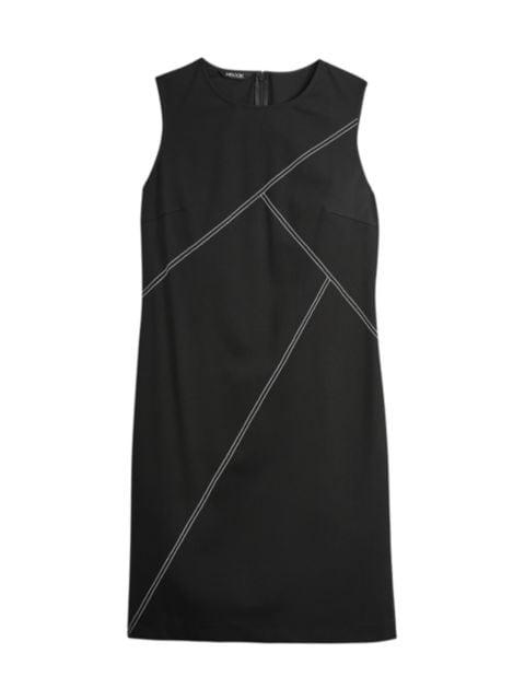 Misook Contrast Stitch Ponte Sheath Dress | SaksFifthAvenue
