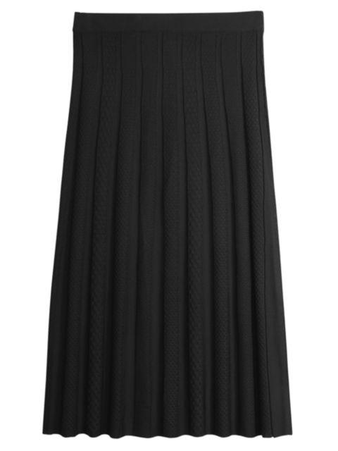 Misook Sunburst A-Line Knit Midi Skirt | SaksFifthAvenue