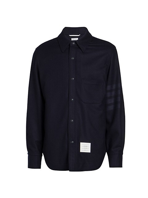 Snap-Front Wool-Cashmere Jacket