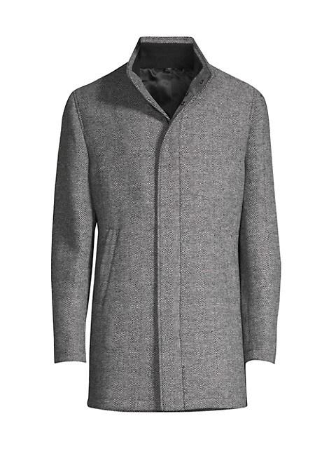 Herringbone Zip Coat