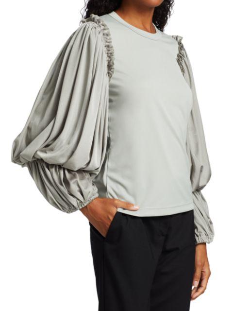 Comme des Garcons Draped Blouson-Sleeve Shirt   SaksFifthAvenue