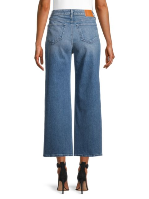 Lafayette 148 New York Wyckoff High-Rise Wide-Leg Jeans   SaksFifthAvenue