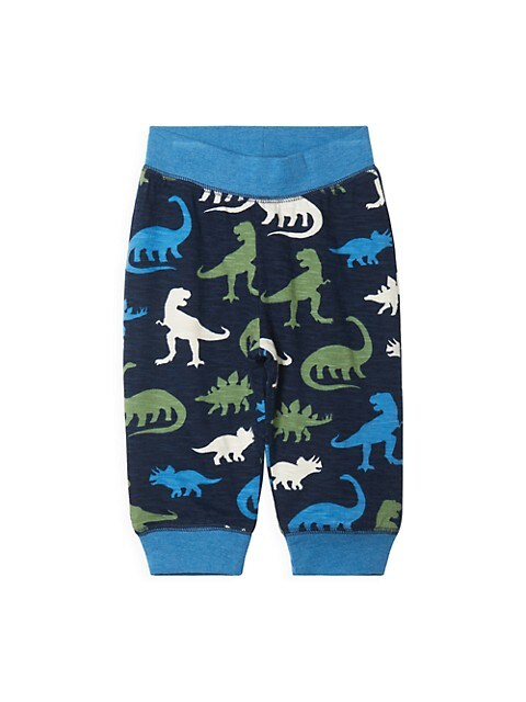 Baby Boy's Silhouette Dinos Reversible Pants