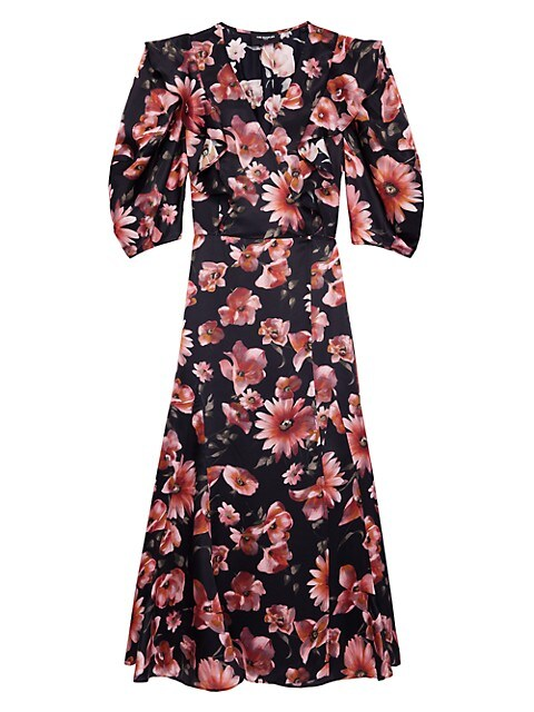 Floral Puff-Sleeve Dress