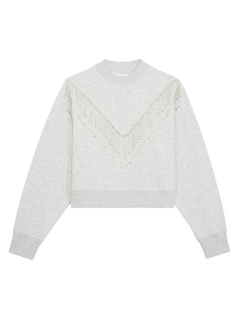 Rhinestone Trim Sweatshirt