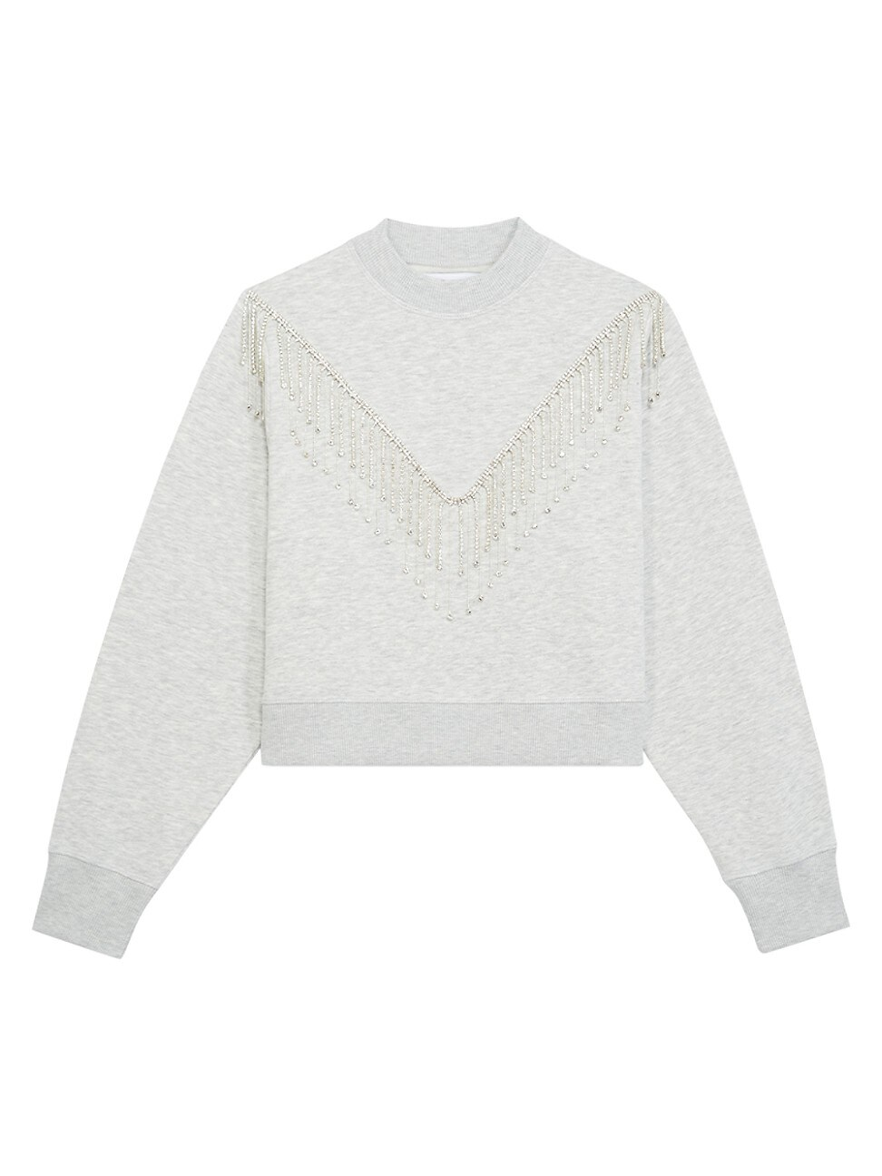 The Kooples WOMEN'S RHINESTONE TRIM SWEATSHIRT